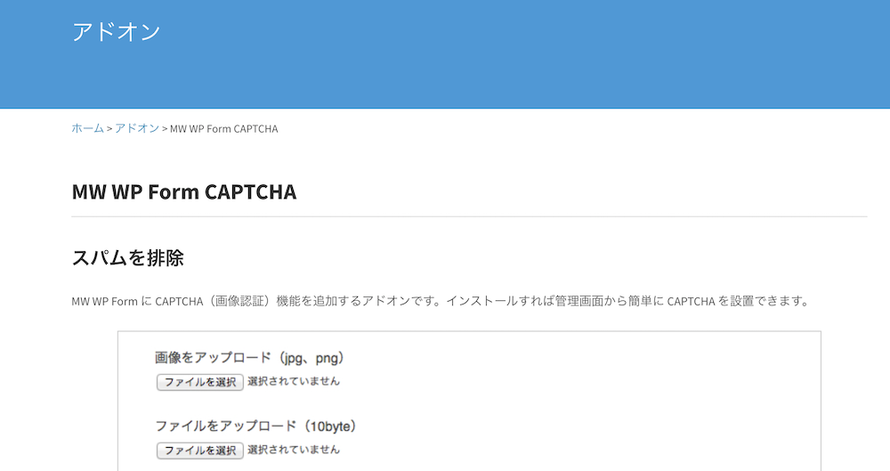 MW WP Form CAPTCHA